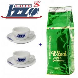 IZZO Vivi Caffe Giamaica 1kg zrnková káva + 2 hrníčky