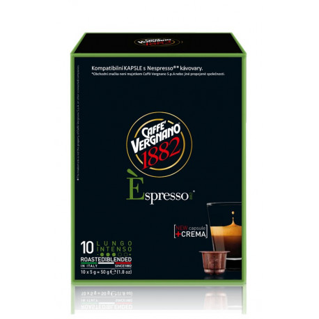 Vergnano Éspresso Lungo Intenso - kapsle pro Nespresso kávovary