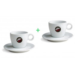Vergnano pocelánové šálky na cappuccino 1+1